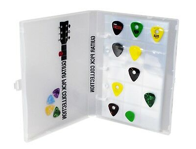 Guitar Pick Collection Kit, Holds 225 picks, Clear