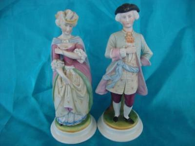 Good Antique Dresden / Volkstedt Bisque Porcelain Figurines. C1880..