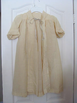 Antique Cotton Linen Baby Toddler Child Robe Coat Clothing Clothes 1920s