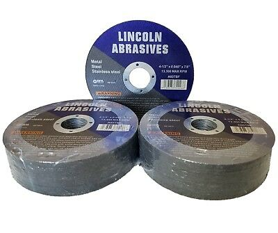 "50 Pc 4-1/2"" x .040"" x 7/8"" Cut off Wheels Stainless Steel Metal Cutting Discs"