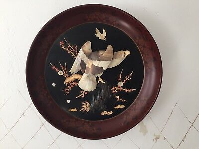 Antique Japanese Lacquered Wall Plaque