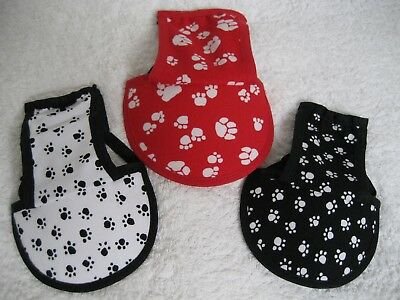 Dog Cap Hat Sun Visor Paw Print Designs Personalised 4 Sizes From Uk