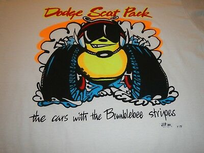 vintage dodge scat pack t shirt mens small the cars with bumblebee stripes