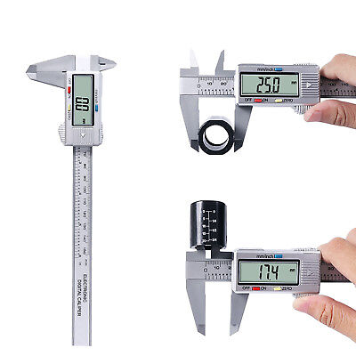 NEW 6'' 150mm LCD Digital Vernier Caliper Micrometer Measure Tool Gauge Ruler UK
