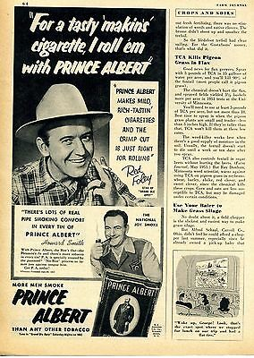 1952 Prince Albert Tobacco Red Foley Grand Ole Opry Star Print Ad