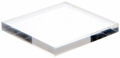 "Plymor Brand Clear Acrylic Square Polished Edge Display Base, .25"" H x 2"" W x 2"""