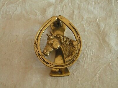 Horse Head Interior Door Knocker/Tapper, brass height approximately 3.75 inches