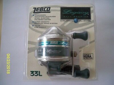 VINTAGE ZEBCO Legacy 33L SPINCAST REEL Unopened NEW IN PACKAGE Made in USA