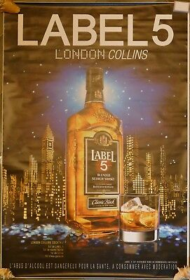 Affiche Poster Whisky Label 5 London Collins 174X118 Grand Format Non Pliee