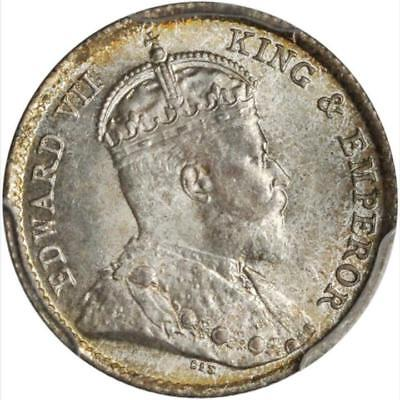 1904 Hong Kong 5 Cents, PCGS MS 66, Superb Example