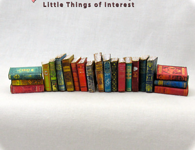 1:24 Scale 21 DUSTY OLD BOOKS Miniature Books Prop Fill a Bookshelf