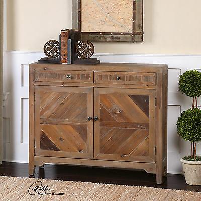 accent console cabinet tall reclaimed solid fir wood two door drawer accent console cabinet rustic finish reclaimed solid fir
