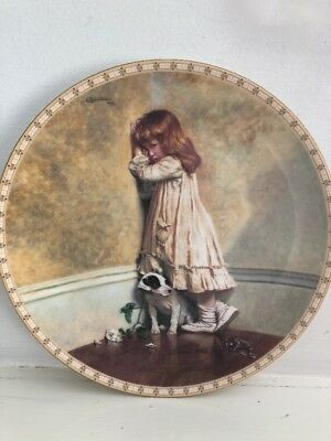 The Original IN DISGRACE Plate 1st In Victorian Childhood Series R. Doulton Mint