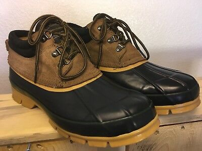9325b29377f DONNER MOUNTAIN MEN'S Leather & Rubber Ankle Duck Boots Size 10M (Medium)