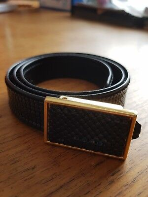 Black Glomesh Adjustable Belt Genuine Vintage Excellent Condition