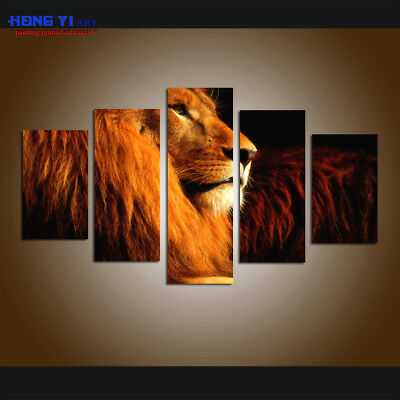 FRAMED Modern Home Decor Canvas HD Print Painting Wall Art Abstract Lion Animal