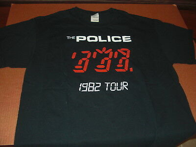 Vintage POLICE Sting Concert T-Shirt LG 1982 Ghost in the Machine Ron Boutwell