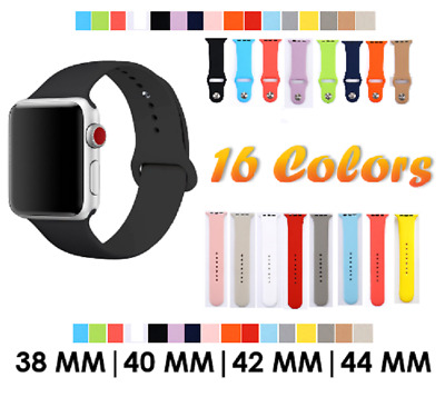 Sport Silicone Watch Band Strap for Apple Watch Series 4 3 2 38mm 40mm 44mm 42mm