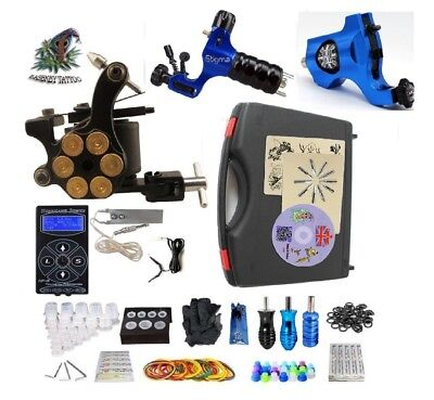 Tattoo Machine Professional Tattoo Kit 3 rotary machine High Quality PowerSupply