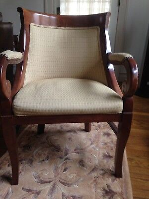 Two Handsome Mahogany Accent Chairs