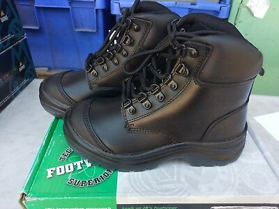 JB's Lace up Work Boots 9E4; black; safety uk 3; ladies 5.