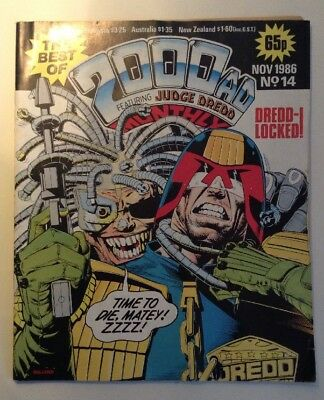 The Best Of 2000Ad Featuring Judge Dredd- #14- Nov1986 Good Condition
