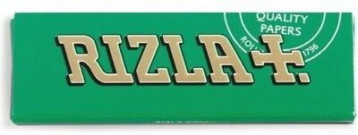 RIZLA GREEN Single Easy Smoking Cigarette Rolling Tobacco Medium Papers Packs