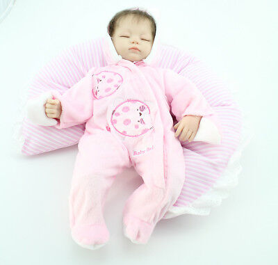 Realistic Reborn Dolls Lifelike Sleeping Soft Vinyl Newborn Baby Toy/Cloth Body