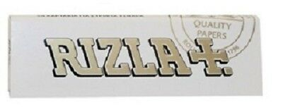 RIZLA WHITE Single Smooth Smoking Cigarette Rolling Tobacco Thick Papers Packs