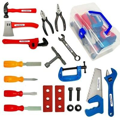 kids tools set real toy play children pretend kit construction tool ...