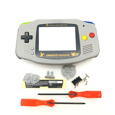 Gold Picachu Grey Housing Shell Mix Color Buttons for Nintendo Game Boy Advance