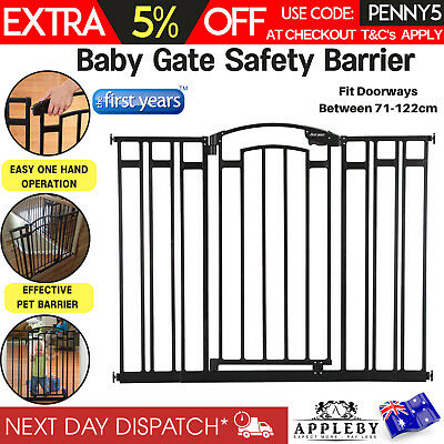 Child Baby Gate Safety Barrier Extendable Adjustable 71-122cm with 3 Extensions