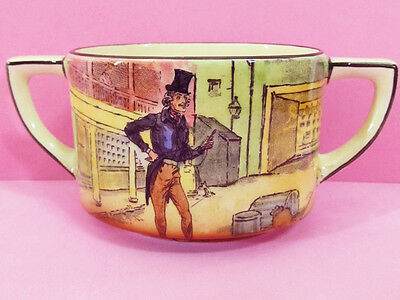 """DICKENS WARE * SUGAR BOWL * """"ALFRED JINGLE"""" of  'PICKWICK PAPERS' *ROYAL DOULTON"""