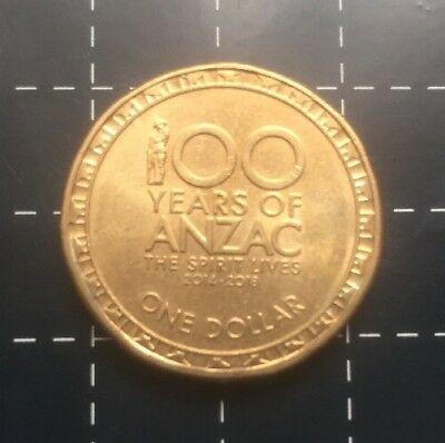 2017 Australian $1 Coin 100 Years Of Anzac - The Spirit Lives On - Unc