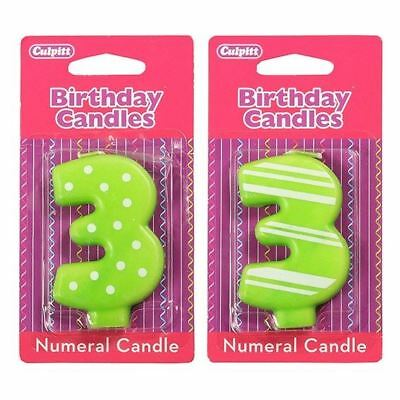 3 Number Birthday / Anniversary  Cake Candle for party decoration