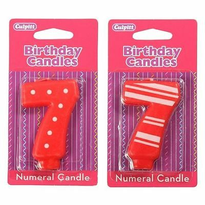 7 Number Birthday / Anniversary  Cake Candle for party decoration