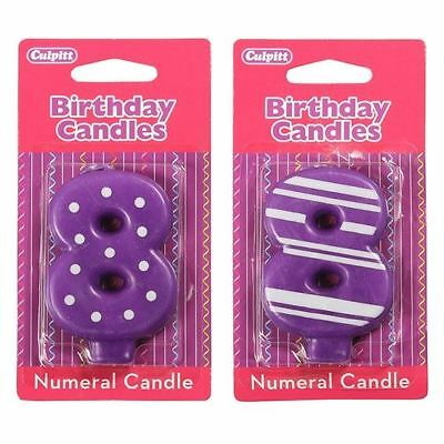 8 Number Birthday / Anniversary  Cake Candle for party decoration