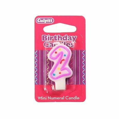 Mini Party Candle '2'  for Birthday / Anniversary  Cake Candle