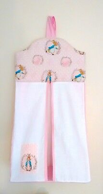 Pink Peter rabbit baby nappy stacker