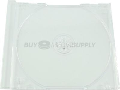 Replacement Clear Trays for Standard CD Jewel Case - 100 Pack