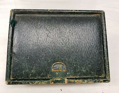 Antique Vintage Chinese Silk Lined Wicker Sewing Box As Is