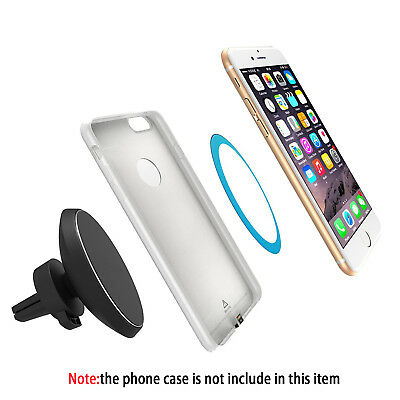 Qi Wireless Charger Dock Magnetic 360 Rotating Mount Car Holder Charging Pad ZL1
