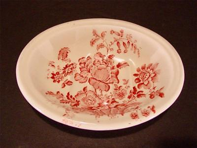 Vintage Royal Crown Staffordshire Charlotte Soap Dish Red Wine Exc. Cond.