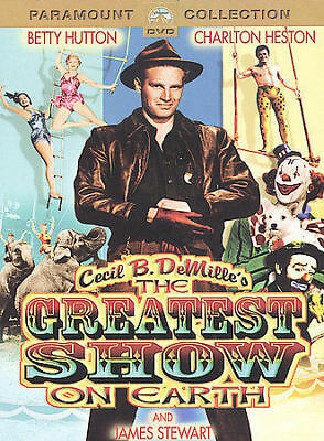 Cecil B. DeMille's THE GREATEST SHOW ON EARTH DVD Charlton Heston • Betty Hutton