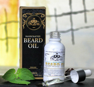 McAniis Best Beard Oil For Itchy Beard Natural Plant Extract Woodsy Aroma Vegan