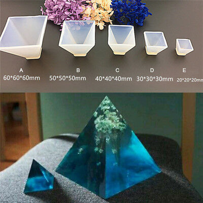 B&H Pyramid Silicone Mould DIY Resin Decorative Mold Craft Jewelry Making Mold