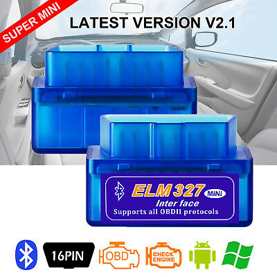 ELM327 V2.1 Bluetooth OBD2 Diagnostic Tool Car Code Reader Scanner For Android