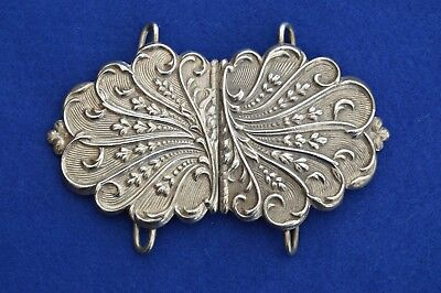 Solid Sterling Silver Nurses Belt Buckle - Birmingham 1972 - NHS - Sterling