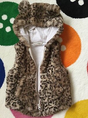 girls hooded fur Jacket from Next 1.5 2 years
