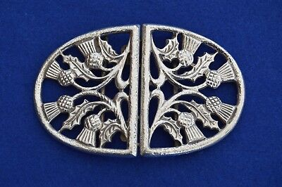 Solid Sterling Silver Nurses Belt Buckle - Birmingham 1997 - Thistle NHS -